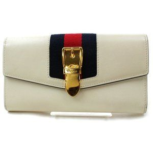 Auth Gucci Sylvie Long Wallet White #N8421C35O